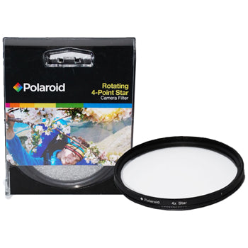 Polaroid Optics 46mm Rotating 4 Point Star Camera Lens Filter