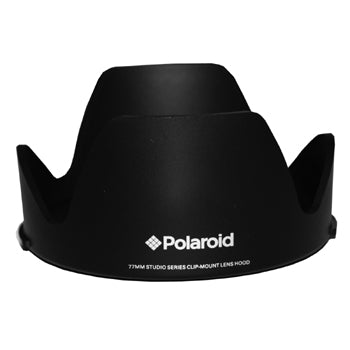 Polaroid 55mm Lens Hood with Easy Pushbutton Mounting System