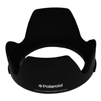 Polaroid 72mm Clip on Lens Hood with Pushbutton Mounting System
