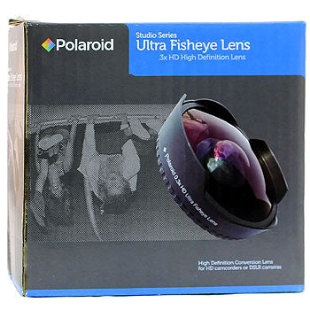 Polaroid 37mm 0.3x HD Ultra Super Fisheye Lens for Camcorders