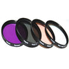 Polaroid 49mm 4 Piece Camera Lens Filter Set (UV, CPL, FLD, WARMING)