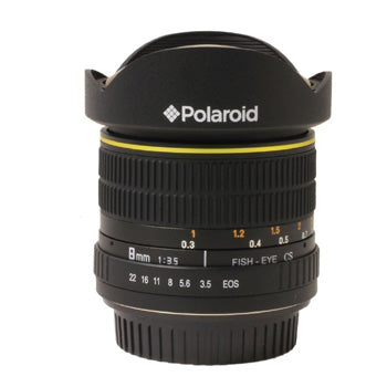 Polaroid Studio Series Ultra Wide Angle 8mm f-3.5 Circular Fisheye Lens for Nikon