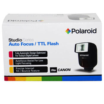 Polaroid PL-108AF Auto Focus-TTL Shoe Mount Flash for Canon SLR