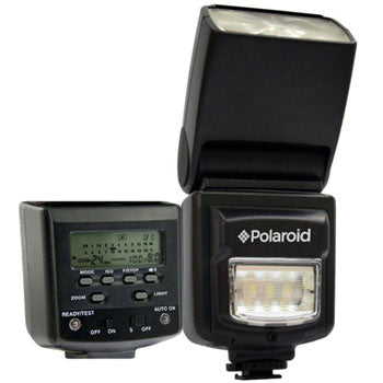 Polaroid Bounce Flash and LED Video Light for Olympus-Panasonic Camera