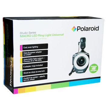 Polaroid Studio Series 48 Led Macro Ring Light for All DSLR Cameras