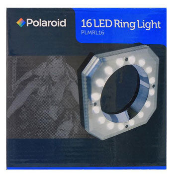 Polaroid Macro 16 LED Ring Light for All DSLR Cameras with Adapters