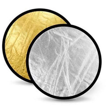 "Polaroid Pro Studio 22"" Collapsible Circular Reflector Disc, Gold-Silver"