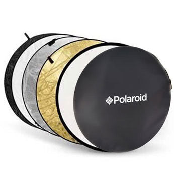"Polaroid Pro Studio 32"" 5-In-1 Collapsible Circular Reflector Disc"