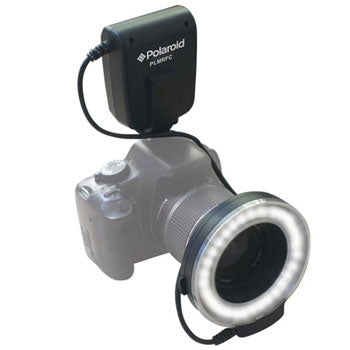 Polaroid Macro LED Ring Flash & Light for Canon Cameras 52-77mm Lenses
