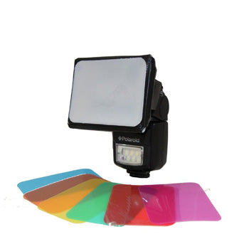 Polaroid Universal Soft Box Diffuser for Flashes with 6 Colored Gels