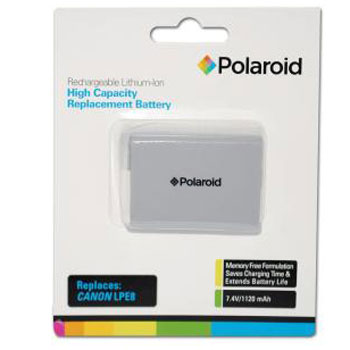 Polaroid Rechargeable Battery Canon LPE8 Replacement