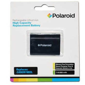Polaroid High Capacity Canon NB2L Lithium Replacement Battery