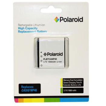 Polaroid High Capacity Casio NP40 Rechargeable Lithium Replacement Battery