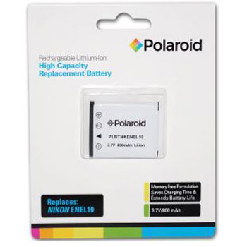 Polaroid Rechargeable Battery Nikon ENEL10 Replacement