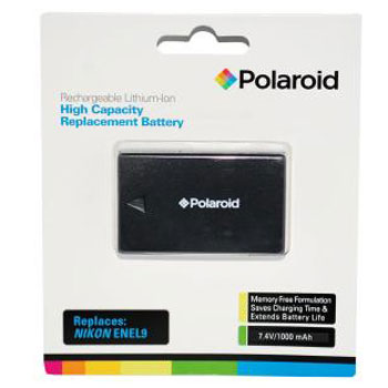 Polaroid Rechargeable Battery Nikon ENEL9 Replacement
