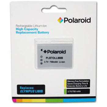 Polaroid Rechargeable Battery Olympus LI80B Replacement