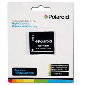 Polaroid Rechargeable Battery Panasonic S008 Replacemnt