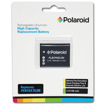 Polaroid Rechargeable Battery Pentax DLI88 Replacement