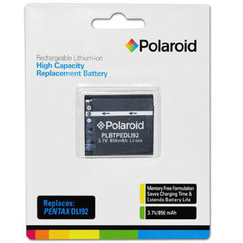Polaroid High Capacity Pentax DLI92 Lithium Replacement Battery