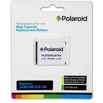 Polaroid Rechargeable Battery Samsung SLB-70A Replacmnt
