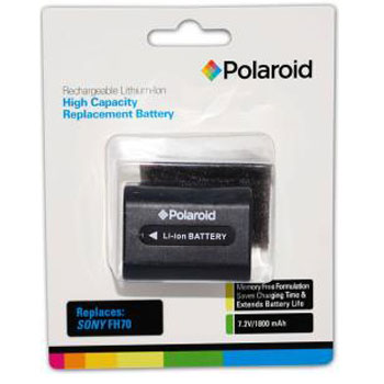Polaroid High Capacity Sony FH70 Lithium Replacement Battery