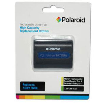 Polaroid High Capacity Sony FM50 Lithium Replacement Battery