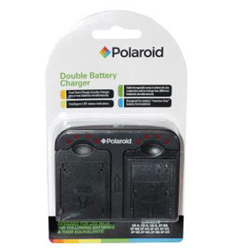 Polaroid Dual Battery Charger for Panasonic S005 BCE10 Battery & More