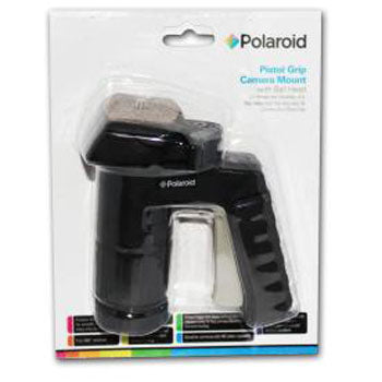 Polaroid Pistol Grip Tripod-Monopod Mount W Ball Head