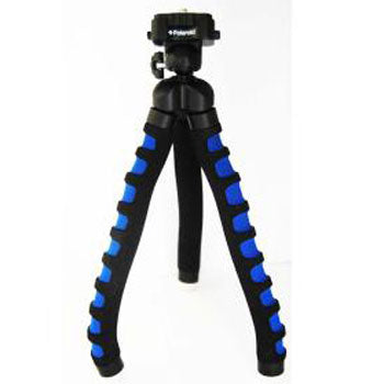 "Polaroid 12"" Flexible Tripod with Protective Grip-Foam Coating (Blue)"
