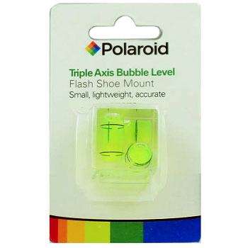 Polaroid Hot Shoe Three Axis Triple Bubble Spirit Level for Sony Alpha