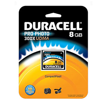 Duracell 8GB CompactFlash High Speed Memory Card (UDMA 300X)