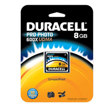 Duracell 8GB CompactFlash High Speed Memory Card (UDMA 600X)