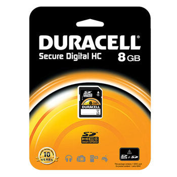 Duracell 8GB SD Memory Card