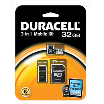 Duracell 32GB Micro-SD Memory Card w-USB Adapter