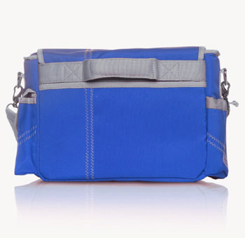 Jill-e Sailcloth Electronics Messenger Bag (Blue)