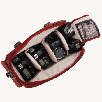 Jill-e Leather Camera Bag Small (Bone )