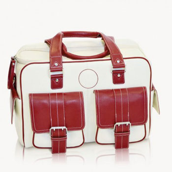 Jill-e Rolling Camera Bag Large (Bone & Red)