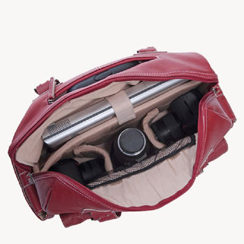 Jill-e Rolling Camera Bag Extra-large (Red )