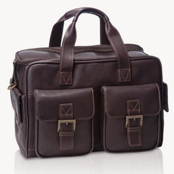 Jill-e Jack Medium Brown Leather Camera Bag  (Brown)