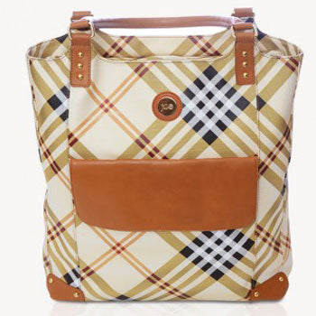 Jill-e E-GO Tote (Tan Plaid)