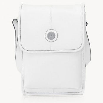 Jill-e E-GO Metro Tablet Bag Leather (White-Black)