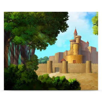 Westcott Castle 5'x6' Scenic Photo Backdrop
