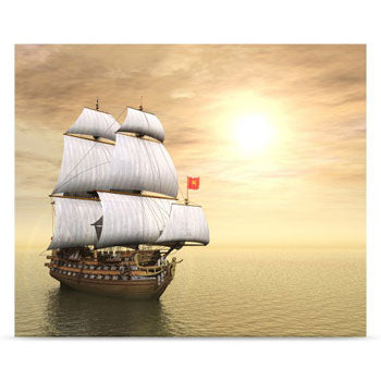 Westcott Pirate Ship 5'x6' Scenic Photo Backdrop