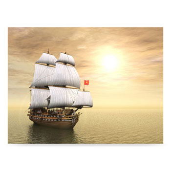 Westcott Pirate Ship 6'x8' Scenic Photo Back Drop