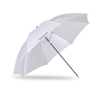 "Westcott 45"" Optical White Satin Collapsible Umbrella"