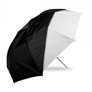 "Westcott 43"" Optical White Satin Collapsible Umbrella with Cover"