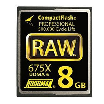 Hoodman 8GB RAW CompactFlash Memory Card (675X)