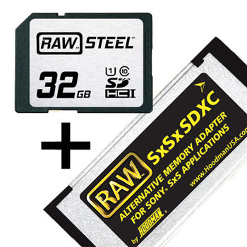 Hoodman 32GB RAW Steel SDHC Class 10 Memory Card & Adapter Kit