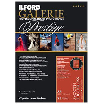 Ilford Galerie Prestige Smooth High Gloss Inkjet Paper (24 in. x 50-foot, 1-roll)