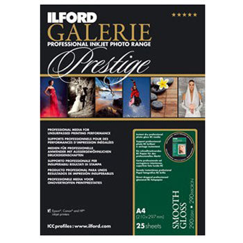 Ilford Galerie Prestige Smooth Gloss Inkjet Paper (24 in. x 88.5-foot, 1-roll)